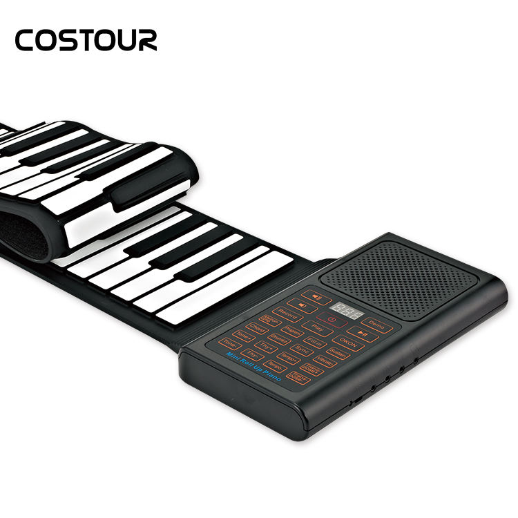 61 keys digital electric piano soft keyboard roll up with MIDI