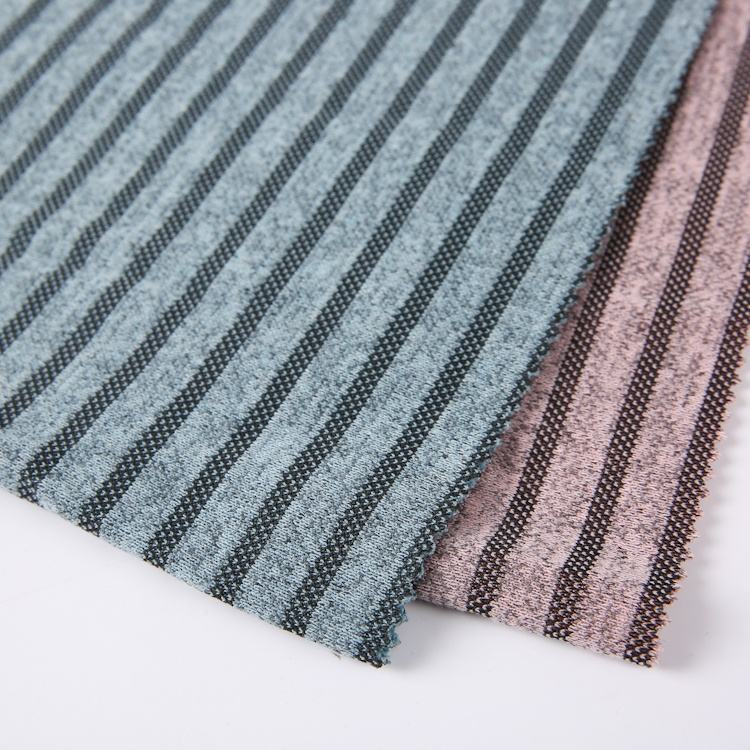 knitting hacci yarn dyed polyester stripe fabric for sports clothing