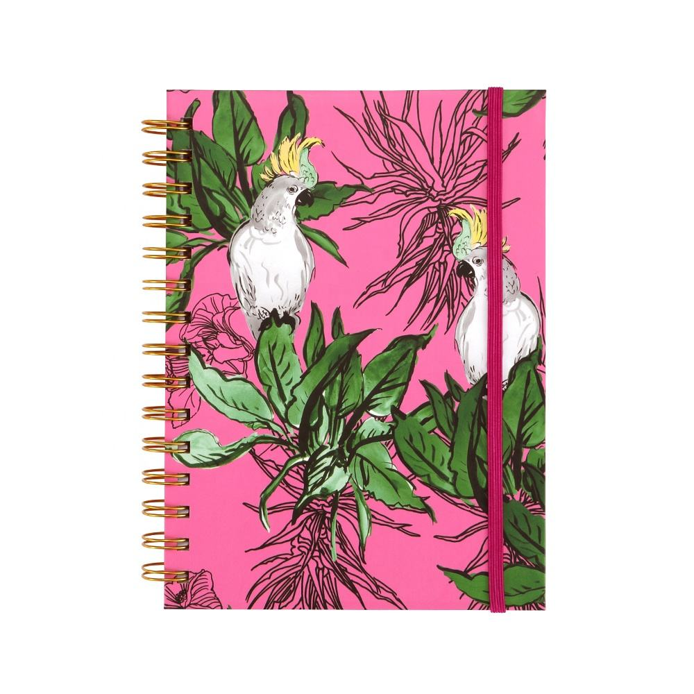 A5 Hardcover Paper Spiral Pocket Notebook, Personalized Recycled Custom Fancy Notebooks Journals