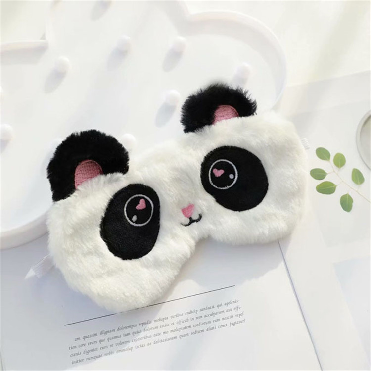 Cute Animal Eye Mask Plush Sleep Masks for Women Girls Kids