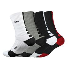 low price custom logo basketball sport crew socks sports elite running cotton socks