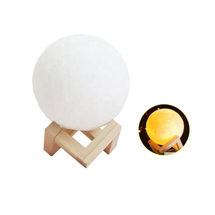 Rechargeable table ball mood lunar led night light 3d print moon lamp