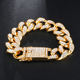 New Arrival 19mm Miami Cuban Link bracelets Prong Cuban Link For Men Fashion Jewelry