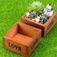 rectangular square fairy garden decorative succulent plants stand flower pots planters