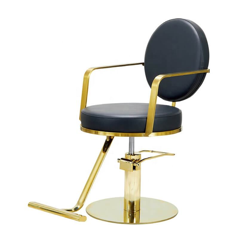 hair salon cutting styling chairs in gold