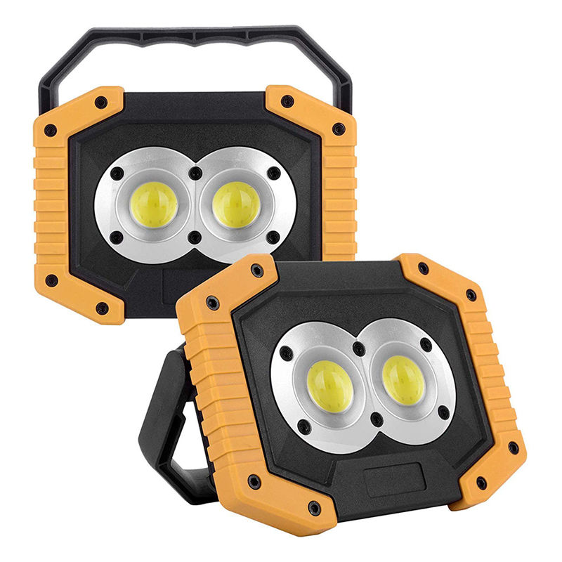 Automotive Working Lamp Potable 30W Led Work Light For Truck, New Multi-Function Cob Led Flood Work Light Rechargeable Stand