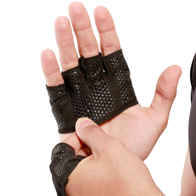 Sports Anti-slip Hand Guards,Dumbbell Workout Half Finger,Thin Gym Sport Gloves