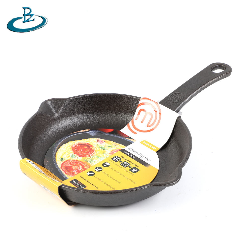 Manufacturer supplying wholesale cast iron skillet non stick pans fry pans