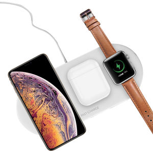 3 in 1 Wireless Charger dock for iphone Apple Watch 5 4 10W Fast Wireless Charging Pad for Airpods iPhone 12 Pro XS X 8 charger