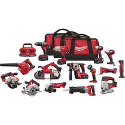 GLOBA-GDGETS Brand new Milwauke 2695-15 M18 18-Volt Cordless Power Lithium-Ion 15-Tool Combo Kit
