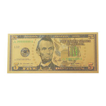 Custom Currency Us Dollar Euro Pure Gold Foil Banknote With Color Printing