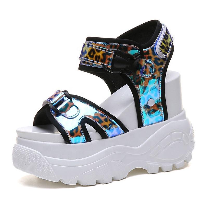 Original high fashion wholesale cheap women ladies wedge platform high heels sports sandals for sale