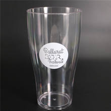New design wholesale 10oz Plastic tumbler Conical 285ml Beer Glass