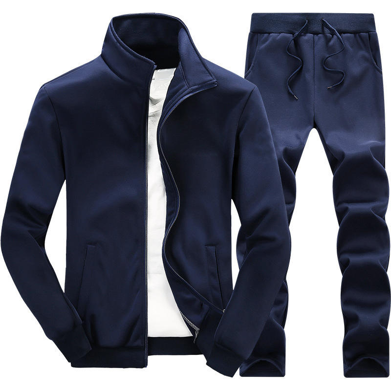High Quality Custom Men Sports TrackSuit Men Zip Jacket and Pant Windproof Sportswear TrackSuit