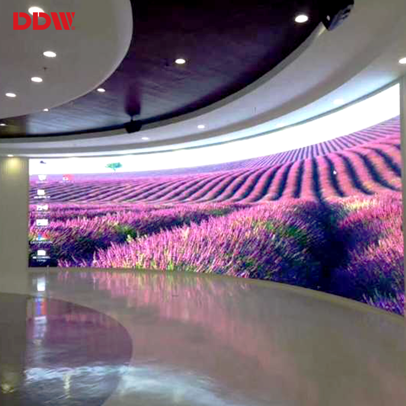 New hot curtain display curved video wall p4.81mm roll up led screen
