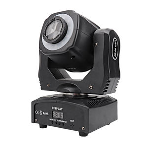 2019 Kimu Verlichting Nieuwe Pro Licht 60W Spot Gobo Moving Head + 3-Facet Prisma + Led Strip voor Dance Hall Disco