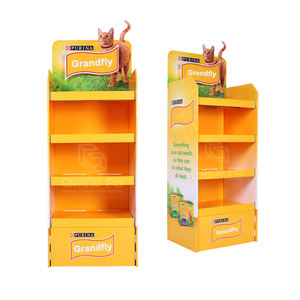 Benutzerdefinierte Karton Produkte Display-ständer, Well Karton Boden Display Rack, Papier Display-ständer Regal Einheit 2021