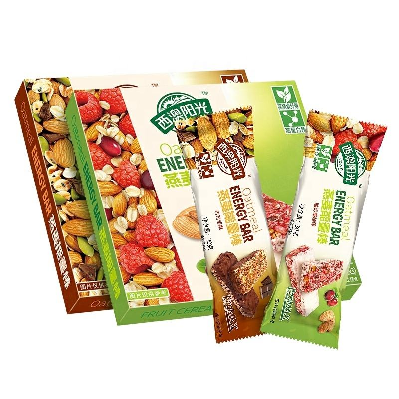 China factory Hot sale cereal bar Rich in nutrients high protein energy bar