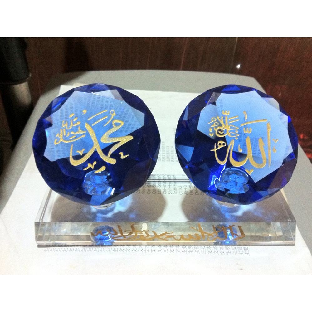 MH-G0206 hot islamic decorative for wedding gifts souvenirs blue crystal diamond