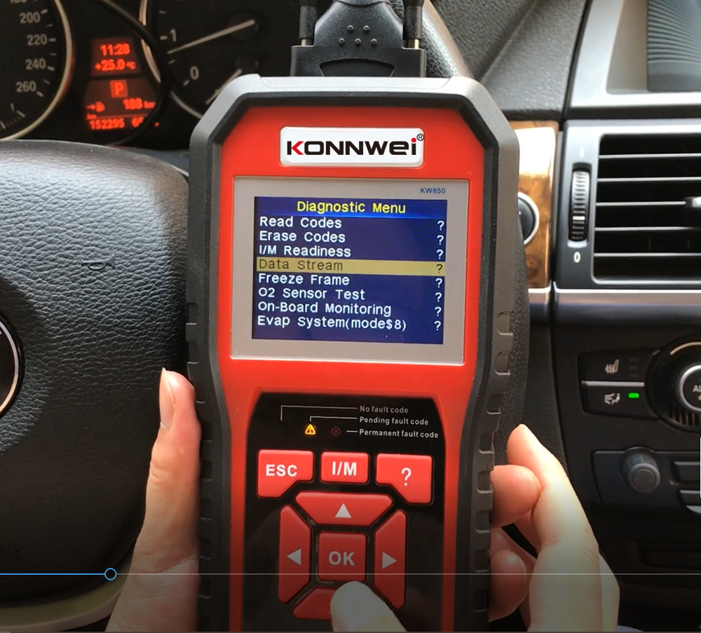 2020 KONNWEI OBD II 16 Pin Auto Connectors Car Diesel Engine Analyzer Sensor Tester KW850 odb2 Diagnostic Scan Tool for All Cars
