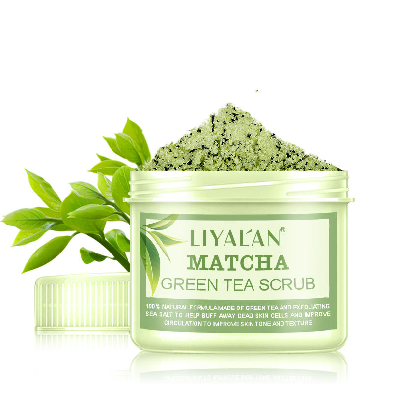 Factory direct sale Private Label Natural Matcha Green Tea Eco Friendly Body Face Scrub