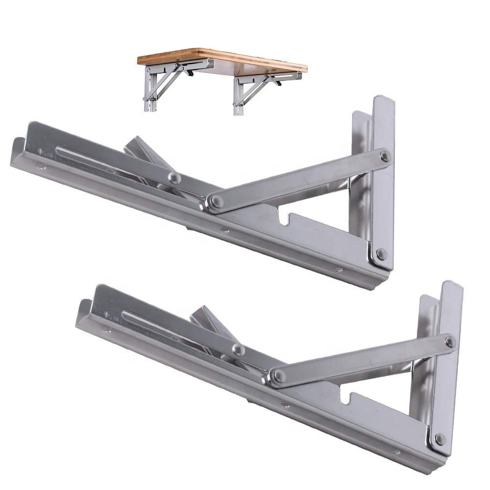 Folding Table Bracket Bench Lowes Triangle Adjustable Stainless Steel L Angle Wall Mounting Shelf Metal Folding Table Brackets