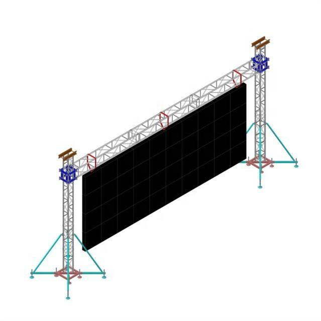 Led Video Wall Truss Structure Aluminum Advertising Truss For Hanging Led Screen