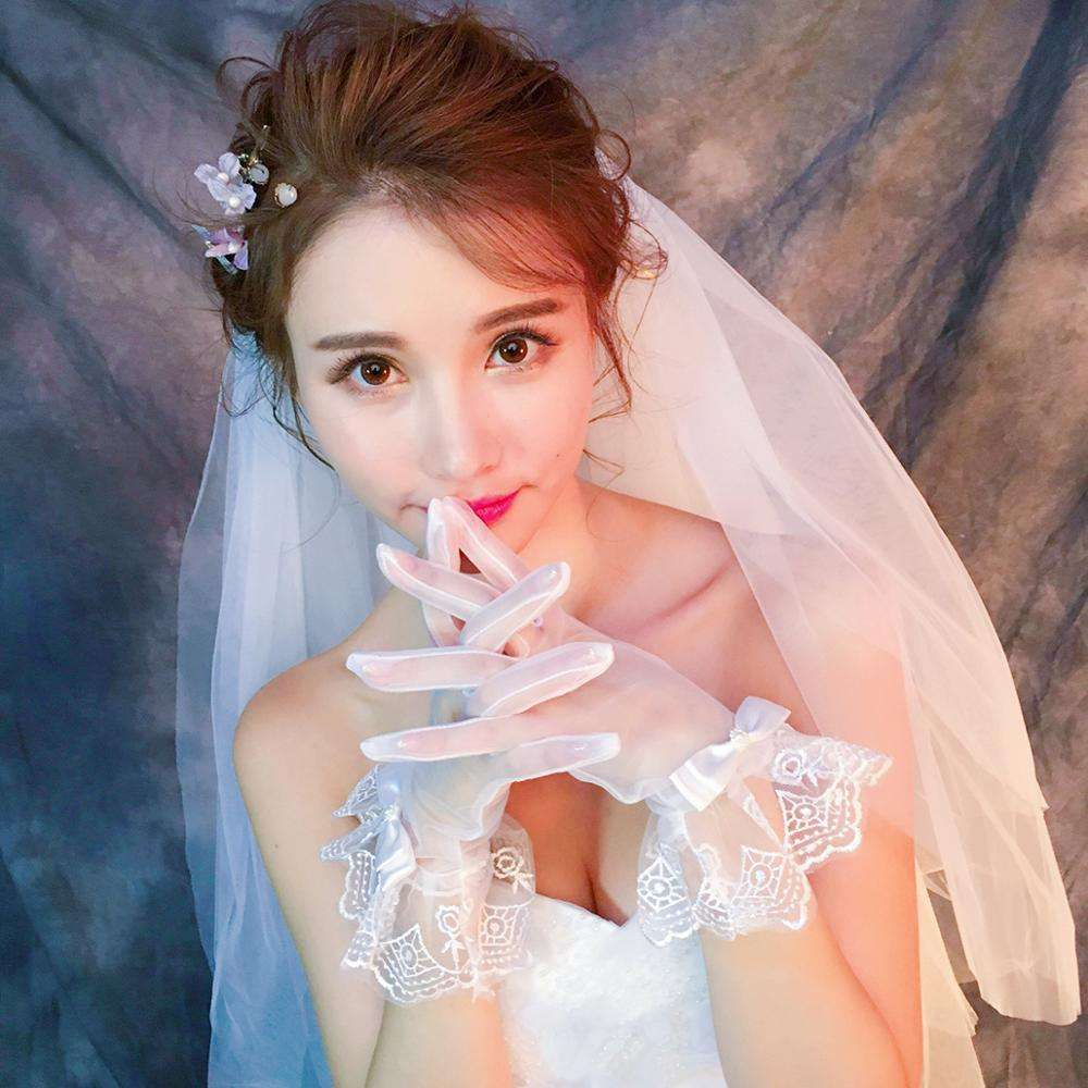 High Quality Suzhou Wholesale Red White Wedding Gloves Bridal With Cheap Price