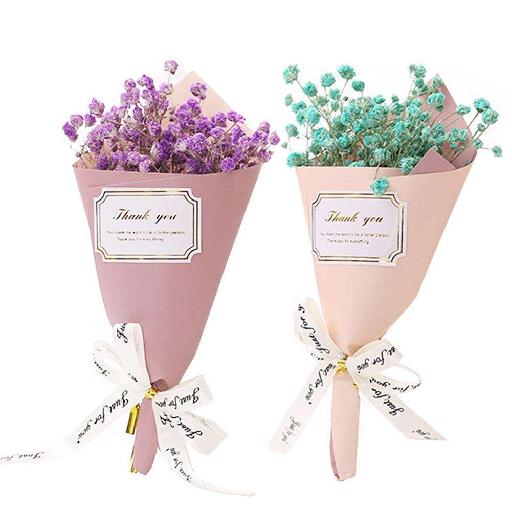 Baby Breath Flowers Bouquets Dry Flower Ornament for Home Office Decoration