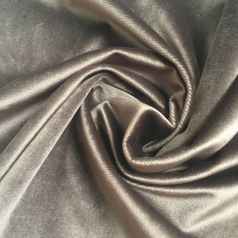 Soft velour plain dyed polyester knitted Holland velvet fabric