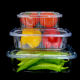 500ml 1000ml 1500ml Clear plastic food packaging container disposable