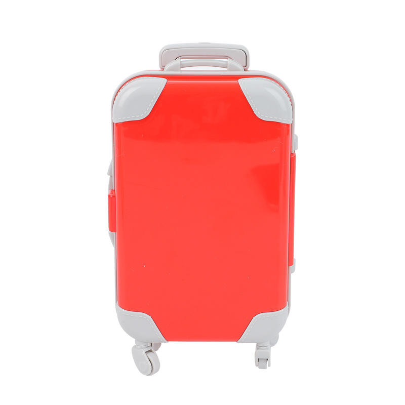 Yiwu Simulation Mini Trolley Suitcase Funiture Toys Multi-functional Storage Box