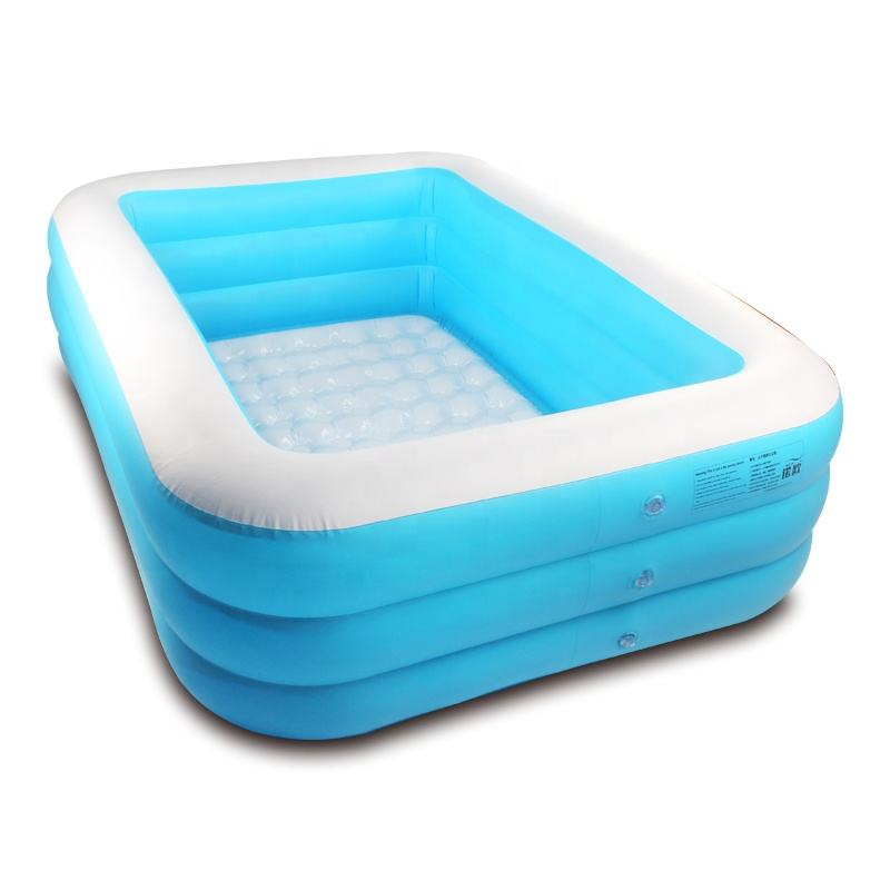 3 Layers Large Outdoor PVC Inflatable Bubble Pool Swimming Pool