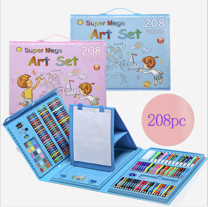Lawin Children's Toys Art 208 Pieces Painting Set With Drawing Board