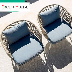Dreamhause High Quality Outdoor Furniture Modern Balcony Garden Courtyard Hotel Villa Patio Living Room Rattan Sofa Chair Sets