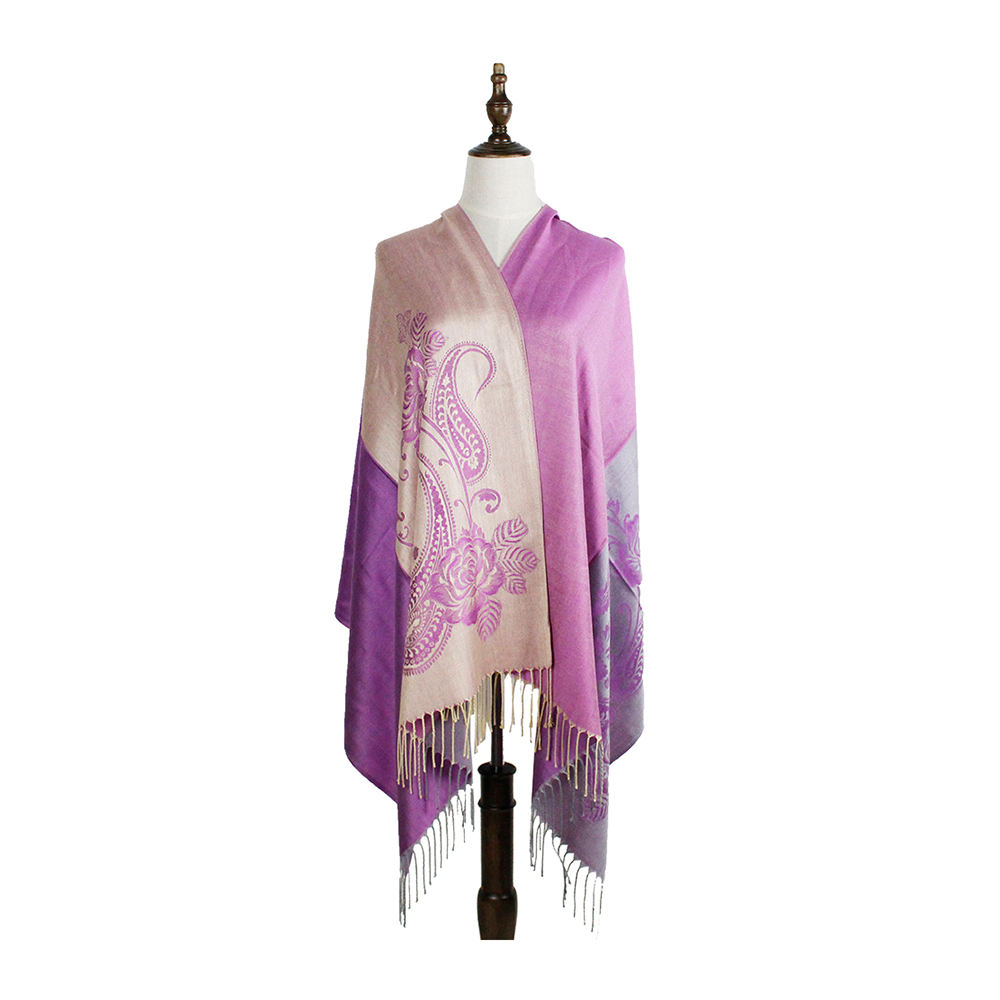 women scarf shawls tippet fashion jacquard woven scarves paisley viscose kashmir stole scarf winter woman
