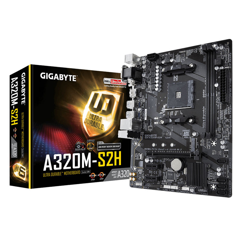 New Gigabyte A320M S2H M-ATX AMD A320 DDR4 M.2 USB3.1 STAT3.0 32G AM4 Socket Mainboard Desktop Motherboard