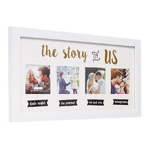 White Collage Photo Frame for love story