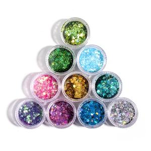 Wholesale Cosmetic Chunky Holographic Glitter Makeup Polyester Eye Glitter