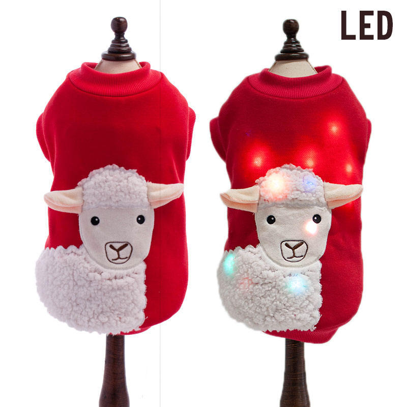 Hot Sale Customized New Novelty Homemade LED Light Dog Clothes Pet Apparel