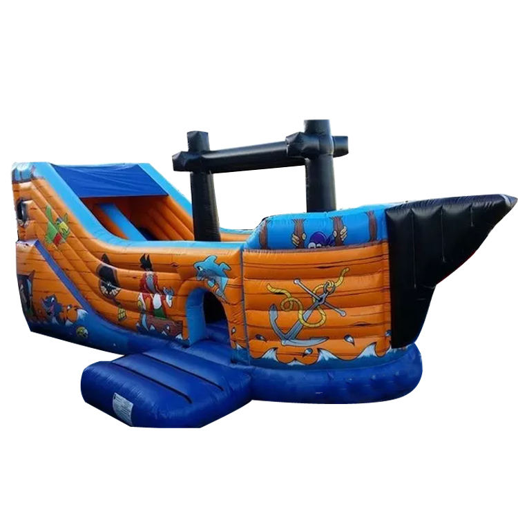large adventure giant inflatable pirate boat bounce castle