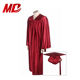 High School Graduation Shiny Maroon graduation gown Uniform