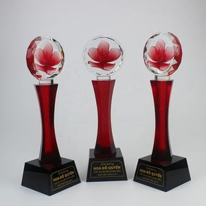 New Wholesale Custom Colorful Flower Crystal Trophy Award