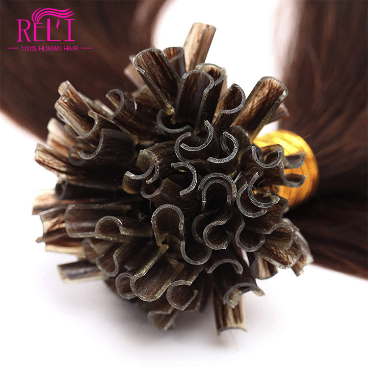 U tip hair extensions wholesale silk asian u tip hair extension cuticle aligned double drawn human hair nail tip