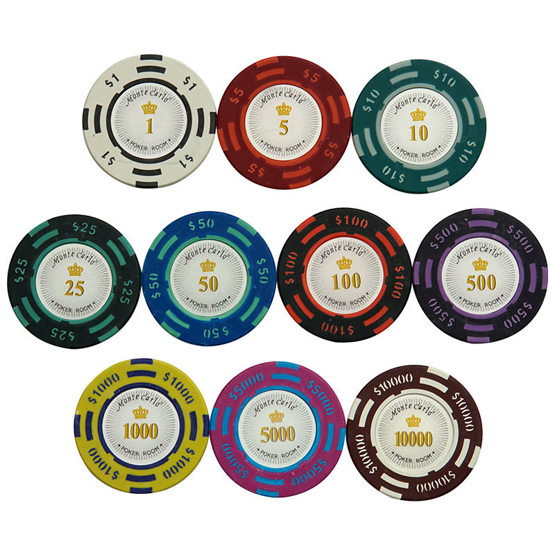Professional Texas Poker Chips Entertainment Dollar Coins 14g Color Sticky Clay Chips Currency Wholesale Cheap Chips