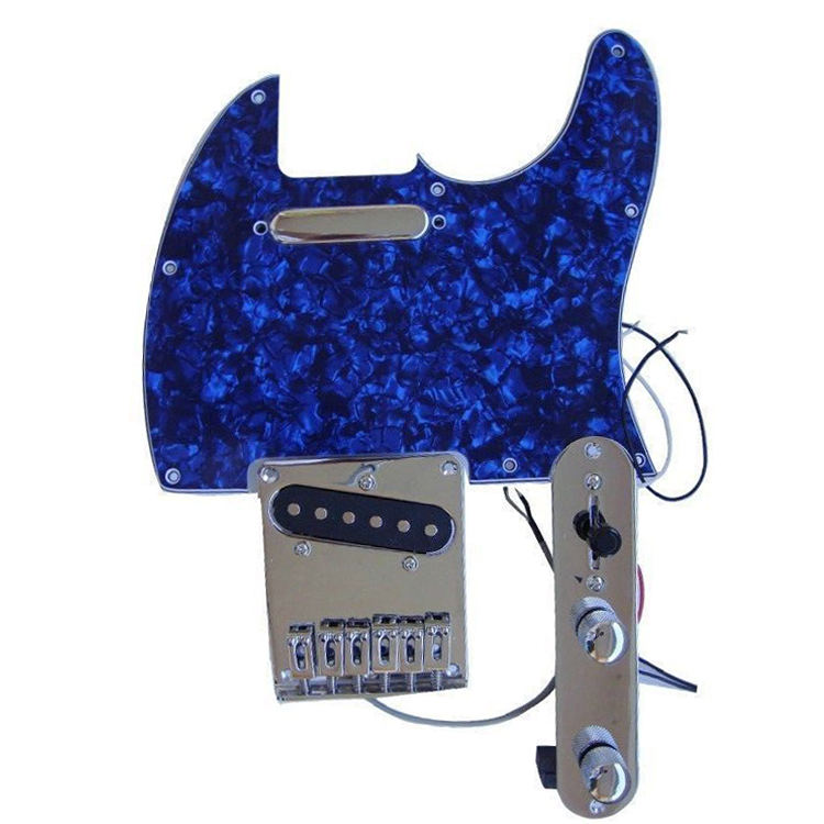4Ply Pearl Blue Guitar Pick board Scratch Plate Scratchplate Assembly TL guitar pickguards with TL Bridge and Pickup