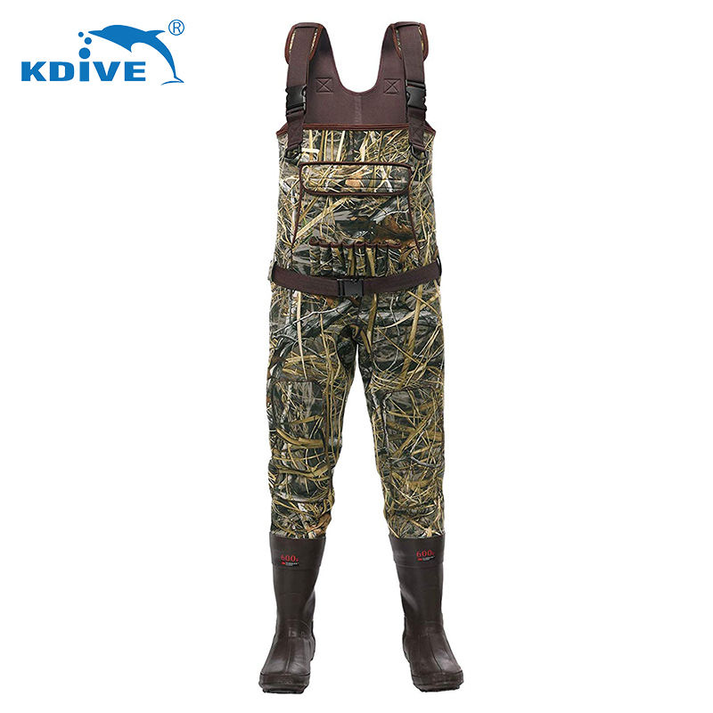 Factory supply waterproof breathable chest wader neoprene fishing waders