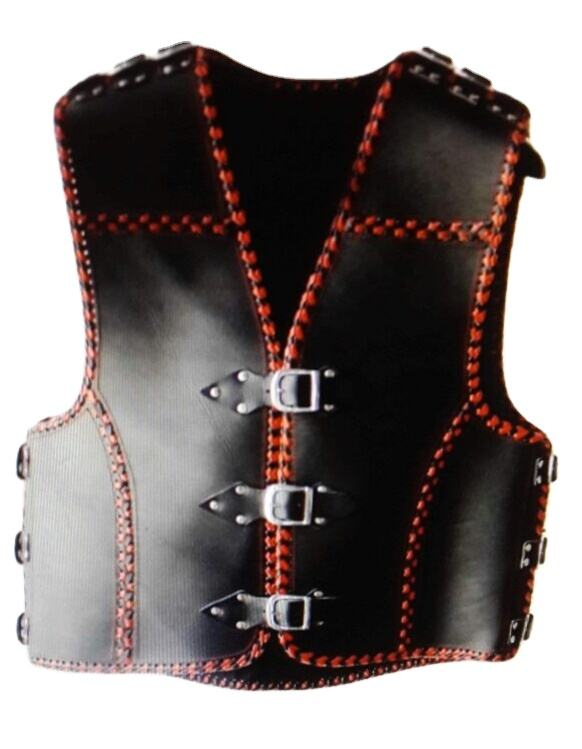 Genuine Leather Custom motorbike motorcycle racing riding leather Club vest Waistcoat new Zealand style motorcycle vest