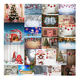 2019 Hot Sale Photography Backdrop Christmas Xmas Wood Wall Floor Background Photo Prop