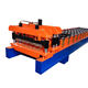 Glazed metal roof sheet corrugated tile roll forming machine